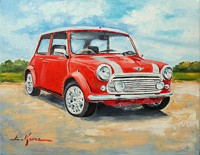 Painting - Mini Cooper Sportspack 1979 by Luke Karcz