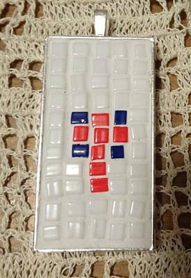 Mini Cross Mosaic Pendant 15 Original by Kathleen Luther