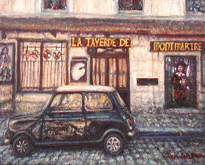 Painting - Mini De Montmartre by Quin Sweetman