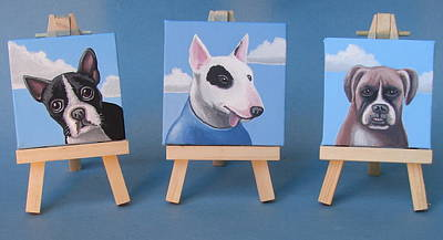 Mini Dog Portraits 2 Art Print by Stuart Swartz