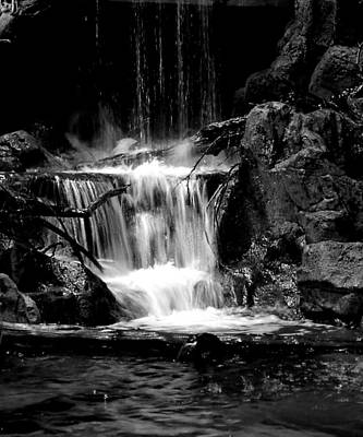 Photograph - Mini Falls Black And White by Deena Stoddard
