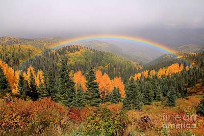 Double Rainbow Photograph - Mini Full Rainbow Surprise by Patrick Dillon