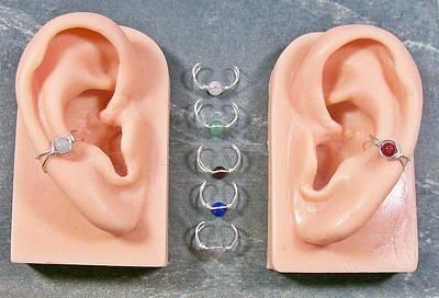 Ear Cuff Jewelry - Mini Gemstone Ear Cuff  by Heather Jordan