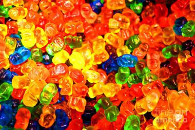 Photograph - Mini Gummy Bears by Chiara Corsaro