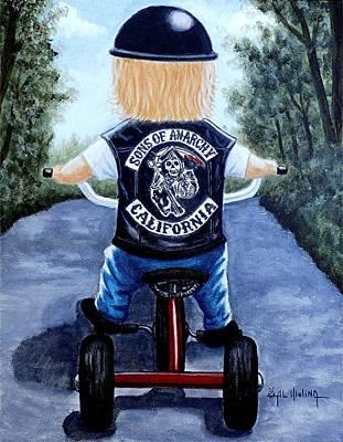 Tricycle Painting - Mini Mayhem by Al  Molina