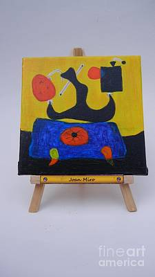 Mini Miro Art Print by Diana Bursztein