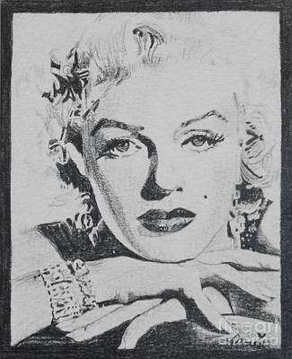 Drawing - Mini-monroe #1 by Bonnie Cushman