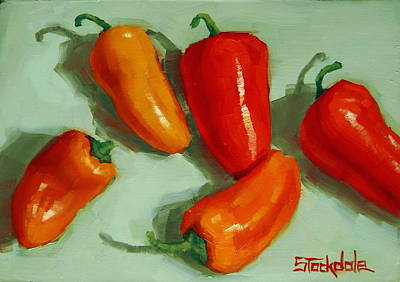 Mini Peppers Study 3 Art Print