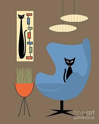 Planters Digital Art - Mini Rectangle Cat by Donna Mibus