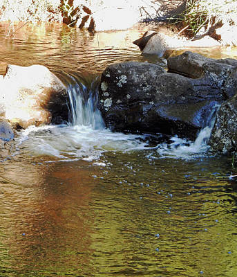 Photograph -  Two Mini Waterfalls  by Pamela Walton