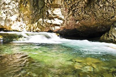 Photograph - Mini Waterfall Rushing by Heather Grow