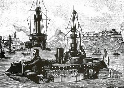 Miniature Amusement Park Warship, 1899 Art Print by Science Source