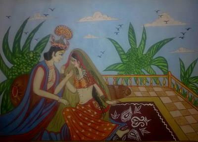 Syeda Ishrat Painting - Miniature Art by Syeda Ishrat