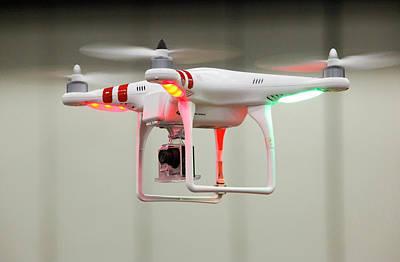 Miniature Camera Drone Art Print