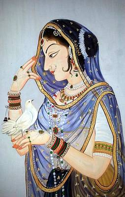 Indian Painting - Miniature Closeup by Mayur Sharma