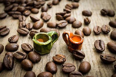 Thomas Kinkade - Miniature coffee cups by Aged Pixel
