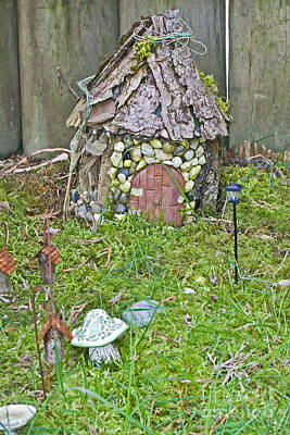 Photograph - Miniature Fairy Garden Scene by Valerie Garner