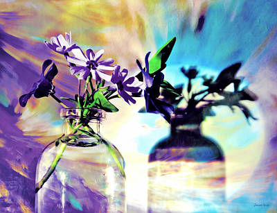 Photograph - Miniature Floral Arrangement by Shawna Rowe