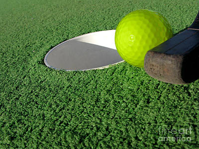 Sink Hole Photograph - Miniature Golf by Olivier Le Queinec
