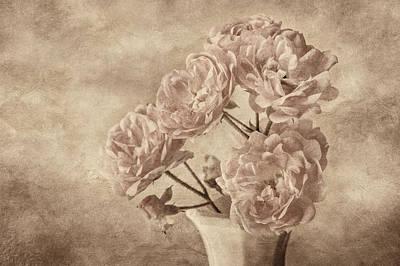 Miniature Watercolors Photograph - Miniature Rose Bouquet by Mary Jo Allen