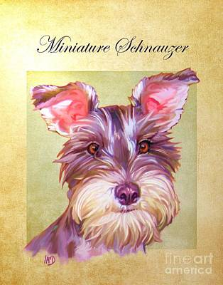 Miniature Schnauzer Puppy Digital Art - Miniature Schnauzer Portrait by Iain McDonald