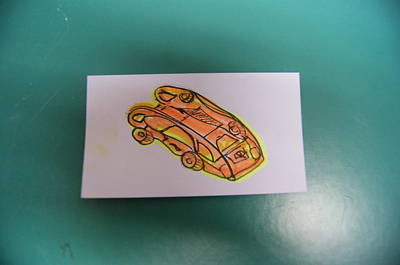 Microchip Painting - Minicars by David Gonzales