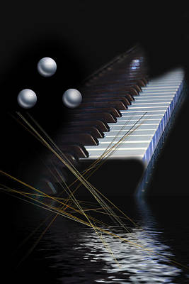 Art Print featuring the digital art Minimalism Piano by Angel Jesus De la Fuente