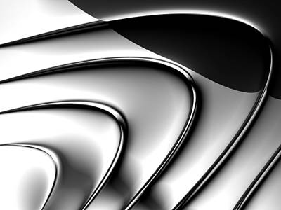 Digital Art - Minimalist Abstract Digital Fractal Art White Silver Black by Matthias Hauser