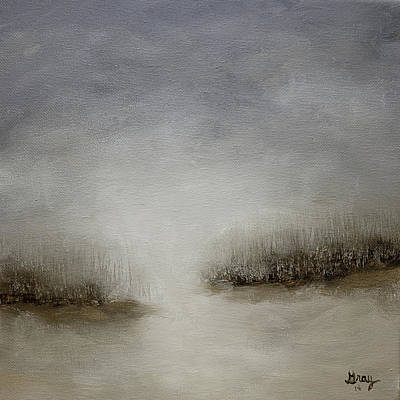 Painting - Minimalist Abstract Landscape Original Painting by Gray  Artus
