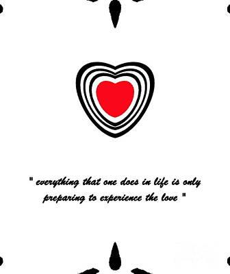 Concentration Digital Art - Minimalist Art Red Heart No.22. by Drinka Mercep