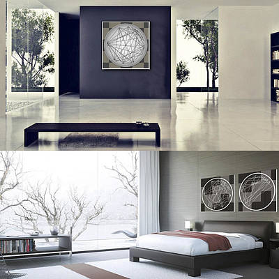 Digital Art - Minimalist Aspect Art In Rooms by Nick Anthony Fiorenza