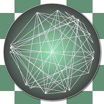 Digital Art - Minimalist Checkers Aspect Art by Nick Anthony Fiorenza