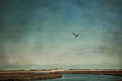 Sandwich Photograph - Minimalist Vintage Inspired Seascape by Brooke T Ryan