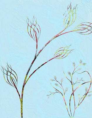 Painting - Minimalistic Vines No.1 by Bonnie Bruno