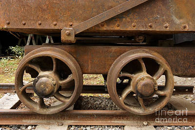 Photograph - Mining Cart by Inge Riis McDonald