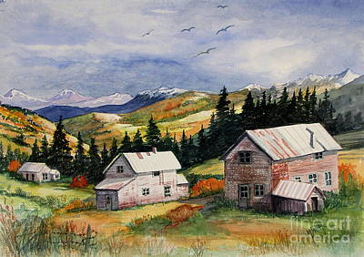 Tin Roof Painting - Mining Days Over by Marilyn Smith