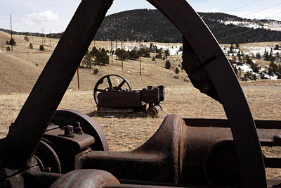 Photograph - Mining Equipment by Ernie Echols