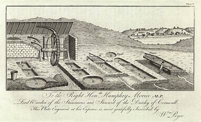 Mining Ore Pits Art Print by Royal Institution Of Great Britain