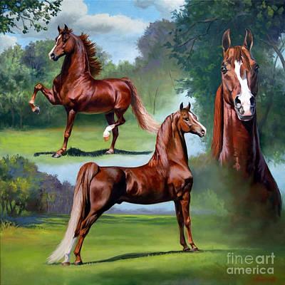 Morgan Horse Painting - Minion Millennium by Jeanne Newton Schoborg