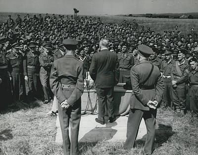 Minister Of Defence Inspects The Territorial�s. Addresses Art Print by Retro Images Archive