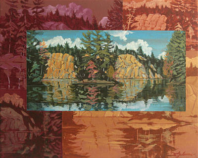 Painting - Mink Lake In Fall by David Gilmore