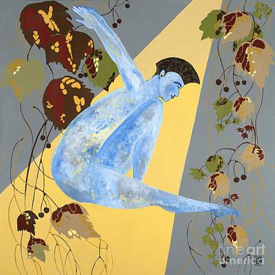 Painting - Minm Blue Boy by Jeffrey Lim