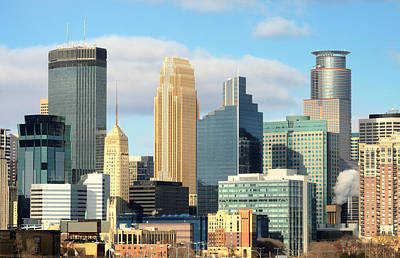 Minnesota Photograph - Minneapolis City Skyline by Jim Hughes