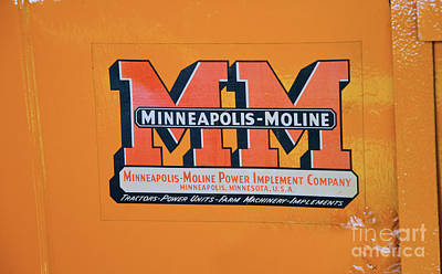 Photograph - Minneapolis Moline Tractor by Paul Mashburn