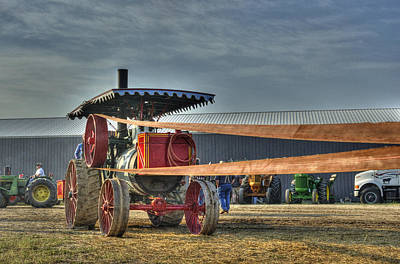 Minneapolis Return Flue Threshing Art Print