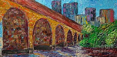 Minneapolis Stone Arch Bridge Art Print by Jacqueline Athmann