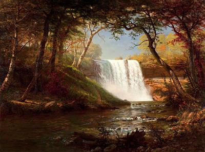 Minnehaha Falls Painting - Minnehaha Falls by Albert Bierstadt