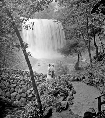 Minnehaha Falls Minneapolis Minnesota 1915 Vintage Photograph Art Print by A Gurmankin