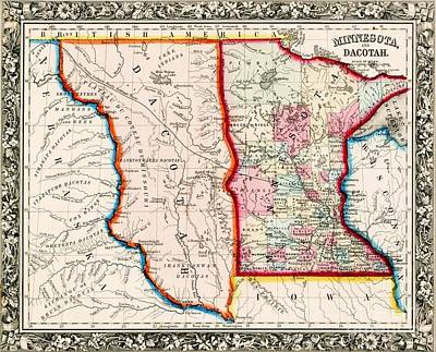 Minnesota And Dacotah  Art Print by Pg Reproductions