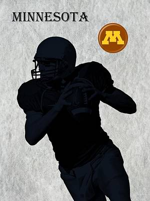 Minnesota Football Art Print by David Dehner